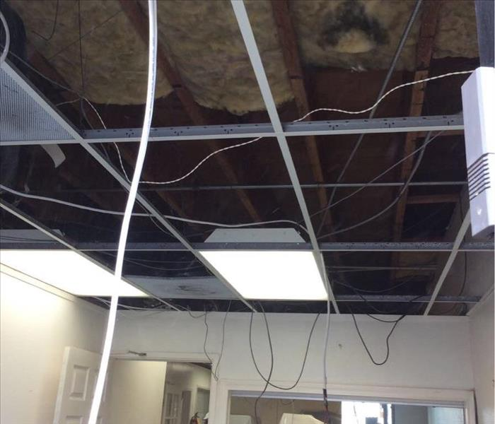 Smoke Damage at Commercial Facility in Carson,California  Before
