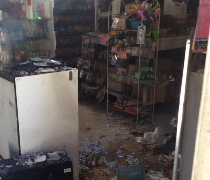 Fire Damage in a store